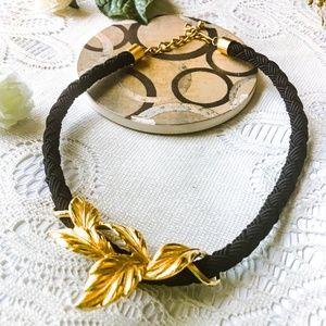 Vintage Floral Necklace - Gold Plated Choker
